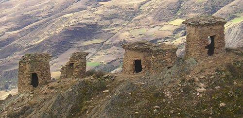 Chullpas near Paucartambo